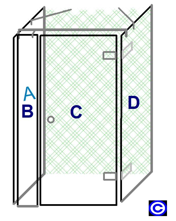 Glasduschen Duschkabinen online kaufen - Duschkabine als U Form, mit ...